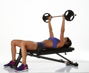 benchpress women bar 300x247 How to Tone up Fast