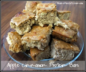 Apple Cinnamon Protein Bars  300x253 Clean Protein Bar Recipes that ROCK