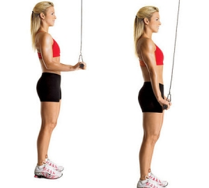 tricep pushdown women 300x270 The Best workout to Sculpt & Tone your Arms