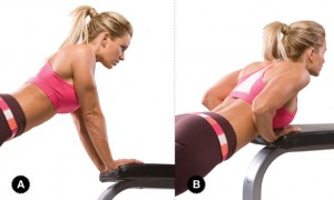 tricep pushups 300x180 The Best workout to Sculpt & Tone your Arms