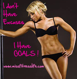 MissFitnessLife goals1 How To Set up a Basic Gym at Home