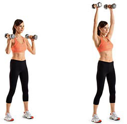 shoulder press standing A Total Body Workout For Fat Loss